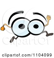 Clipart Pair Of Eyes Running Royalty Free Vector Illustration