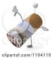 Clipart 3d Tobacco Cigarette Character Doing A Cartwheel Royalty Free CGI Illustration by Julos