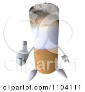 Clipart 3d Tobacco Cigarette Character Holding A Thumb Up Royalty Free CGI Illustration by Julos