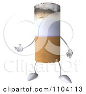 Clipart 3d Tobacco Cigarette Character Gesturing Royalty Free CGI Illustration by Julos