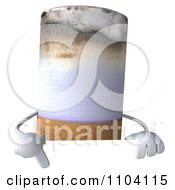 Clipart 3d Tobacco Cigarette Character With A Sign 1 Royalty Free CGI Illustration by Julos