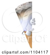 Clipart 3d Tobacco Cigarette Character With A Sign 3 Royalty Free CGI Illustration by Julos