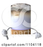 3d Tobacco Cigarette Character With A Sign 4