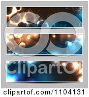Clipart Three Glowing Bokeh Light Website Banners Royalty Free Vector Illustration