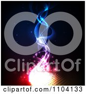 Clipart Magical Fire With Orbs And Smoke Royalty Free Vector Illustration by TA Images