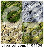 Clipart Seamless Green Gray And Tan Military Camouflage Background Patterns Royalty Free Vector Illustration