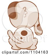 Clipart Hind View Of A Spotted Dog Royalty Free Vector Illustration