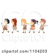 Clipart Stone Age Cave Children Royalty Free Vector Illustration
