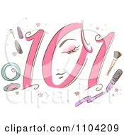 Clipart Beauty 101 Icon With Makeup Royalty Free Vector Illustration by BNP Design Studio