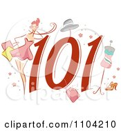 Clipart Shopping 101 Icon With A Consumer And Apparel Royalty Free Vector Illustration by BNP Design Studio