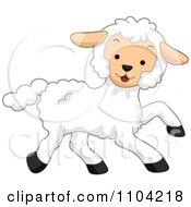 Clipart Cute Happy Lamb Royalty Free Vector Illustration