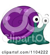 Clipart Happy Purple And Teal Snail Royalty Free Vector Illustration by BNP Design Studio