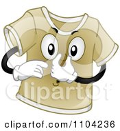 Clipart Stinky Brown T Shirt Plugging His Nose Royalty Free Vector Illustration by BNP Design Studio