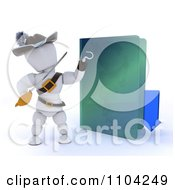 Clipart 3d Illegal Download White Character Pirate With An Arrow And Folder Royalty Free CGI Illustration