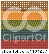 Clipart Patterned Designs In Dots Stripes And Gingham Royalty Free Vector Illustration