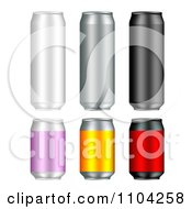 Clipart 3d Tall And Short Aluminum Cans Royalty Free Vector Illustration by vectorace