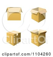 Clipart 3d Cardboard Shipping Or Moving Boxes Royalty Free Vector Illustration by vectorace
