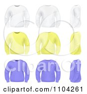 White Yellow And Purple Mens Sweaters