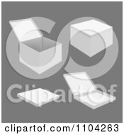 Clipart 3d White Boxes And Packages Royalty Free Vector Illustration by vectorace