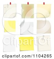 Clipart Pinned Sticky And Taped Notes Royalty Free Vector Illustration