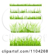 Clipart Green Just Grass Border Design Elements Royalty Free Vector Illustration