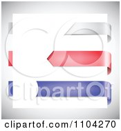 Clipart 3d Silver Red And Blue Page Mark Ribbons Royalty Free Vector Illustration