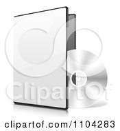 Clipart 3d CD And Software Package Royalty Free Vector Illustration by vectorace
