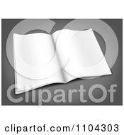 Clipart 3d Blank Open Magazine On Gray Royalty Free Vector Illustration