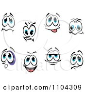 Clipart Pairs Of Expressional Eyes 4 Royalty Free Vector Illustration by Vector Tradition SM