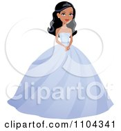 Clipart Beautiful Beauty Queen Woman Posing In A Purple Ball Gown Royalty Free Vector Illustration