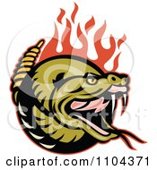 Clipart Angry Rattlesnake With Red Flames Royalty Free Vector Illustration
