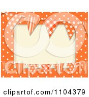 Patterned Bunting Flags And Polka Dots On Orange With Copyspace