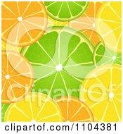 Clipart Orange Lime And Lemon Slice Background Royalty Free Vector Illustration