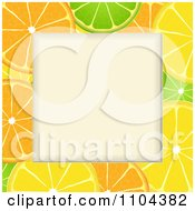 Clipart Orange Lime And Lemon Slice Frame Around Copyspace Royalty Free Vector Illustration by elaineitalia