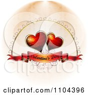 Romantic Heart Background With Valentines Day Text 4