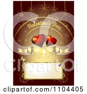 Romantic Heart Background With Valentines Day Text 2