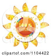 Clipart Circle Of Orange Slices With Natural Text Royalty Free Vector Illustration