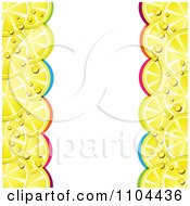 Clipart Border Of Juicy Lemon Slices And Colorful Arches Royalty Free Vector Illustration