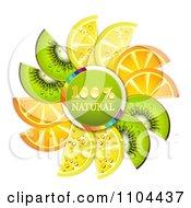 Clipart Circle Of Kiwi Lemon And Orange Slices A Natural Circle Royalty Free Vector Illustration