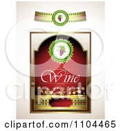 Clipart Red Wine Label Design Elements 1 Royalty Free Vector Illustration by merlinul