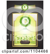 Clipart White Wine Label Design Elements Royalty Free Vector Illustration by merlinul
