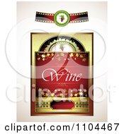 Red Wine Label Design Elements 2