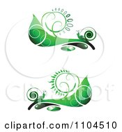 Ornate Swirl Leaves And Snails Design Elements 1
