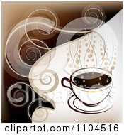 Hot Coffee Cup With Steam And Swirls 1