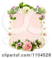 Clipart Pastel Pink Rose Frame Royalty Free Vector Illustration