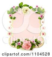 Pastel Pink Rose Frame
