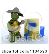 Clipart 3d Illegal Music Download Hook Hand Tortoise Pirate With A Folder Royalty Free CGI Illustration by KJ Pargeter