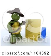 Clipart 3d Illegal Download Hook Hand Tortoise Pirate With A Folder Royalty Free CGI Illustration by KJ Pargeter