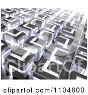 Clipart 3d Background Of Glowing Cubes Royalty Free CGI Illustration