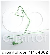 Clipart 3d Green Cord Forming A Desk Lamp Royalty Free CGI Illustration